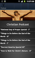 Screenshot of Christian Podcasts