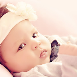 Sweetness by Darya Morreale - Babies & Children Babies ( girl, baby, sweetness, cheeks, newborn )