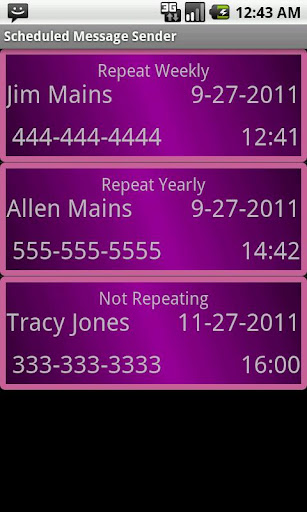 Group SMS Scheduler