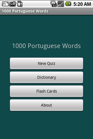 Top 1000 Portuguese Word Quiz