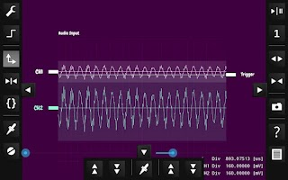 Screenshot of OsciPrime Oscilloscope
