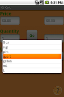 Screenshot of OJ Calc