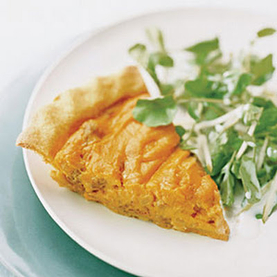 Andouille–and–Sweet Potato Pie with Tangy Apple Salad