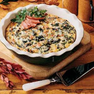 Low Carb Bacon & Mushroom Quiche