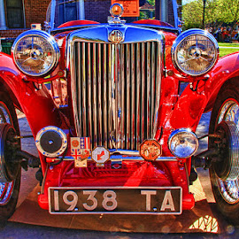 Red MG by Fred Herring - Transportation Automobiles