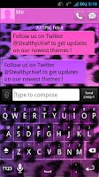 Screenshot of GO SMS Girly Cheetah Theme
