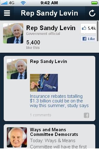 Congressman Sander Levin App