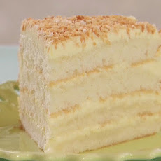 Throwdown's Toasted Coconut Cake with Coconut Filling and Coconut Buttercream