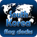 South Korea flag clocks icon