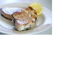 Pan Seared Roasted Garlic Swordfish Steaks