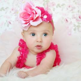 tutu cute  by Tristen Leck - Babies & Children Babies ( girl, headband, tutu, pink, photography )