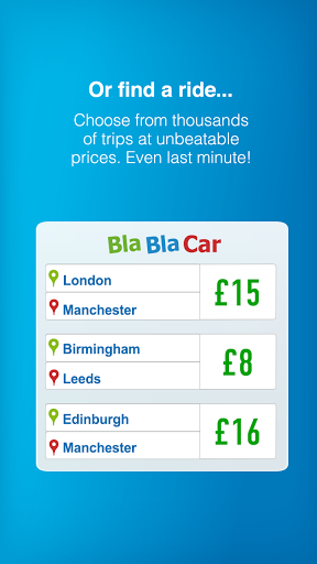 BlaBlaCar, Trusted Ridesharing Screenshot