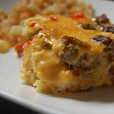 Maple Sausage and Waffle Breakfast Casserole
