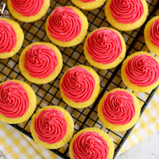 Lemon Baby Cakes with Fresh Raspberry Buttercream