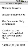 Screenshot of English Orthodox Prayers