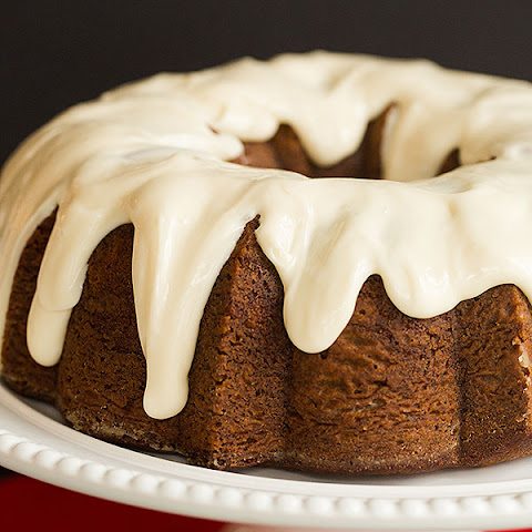 Gingerbread Bundt Cake with Cream Cheese Icing