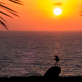 by Oleg T. - Novices Only Landscapes ( sunset, silhouette, sea, silhouettes, seascape, sun )