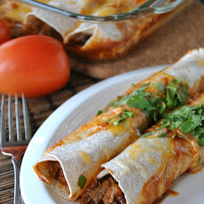 Lighter Beef Enchiladas