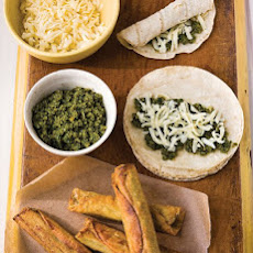 Cheese Flautas with Cilantro Pesto