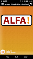 Screenshot of Radio Alfa
