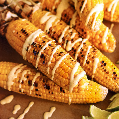 Corn with Curried Yogurt Sauce