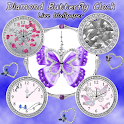 Diamond Butterfly Clock LIVE icon