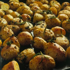 Oven-roasted New Potatoes in Rosemary Vinaigrette