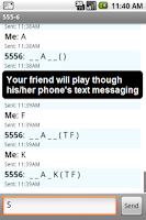 Screenshot of Text Message Hangman
