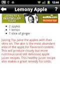 Screenshot of Juicing