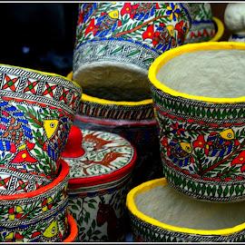 Wastepaper Baskets by Prasanta Das - Artistic Objects Other Objects ( colorful, wastepaper baskets )