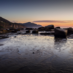 Coalcliff Sunrise by Bradley Rasmussen - Landscapes Waterscapes ( canon, sea, nsw, ocean, ef 24-70, landscape, 6d, spring, photoshop cc, coalcliff, 24-70, australia, sunrise, rocks,  )