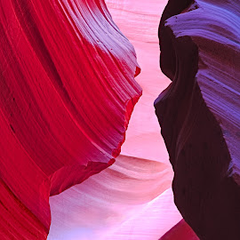 The Kiss by Jay Gould - Landscapes Caves & Formations ( up close, colors, rocks, antelope canyon, formation )