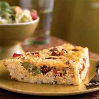 Cajun Quiche in a Rice Crust