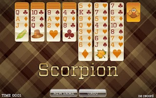 Screenshot of Thanksgiving Solitaire