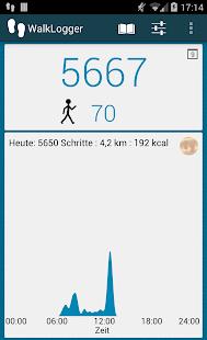 WalkLogger Schrittzähler Screenshot
