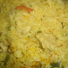 Spanish Style Chicken with Saffron Rice