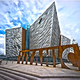 The Titanic Centre  by Myles Lambert - Buildings & Architecture Architectural Detail ( #iconictitaniccentre, #titanicbuilding, #belfast, #gameofthronesstudioscloseby, #titanic, #titanicquarterbelfast )