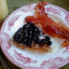 Upside-Down Blueberry Pancake