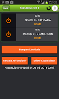 Screenshot of Football Accumulator Tracker