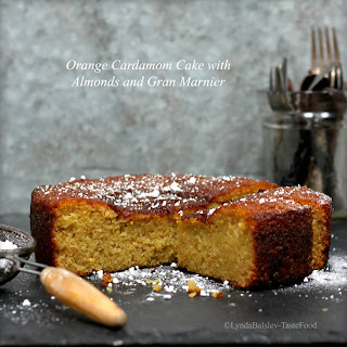 Orange Cardamom Cake with Almonds and Gran Marnier