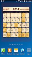 Screenshot of Hindu Calendar 2014