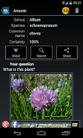 Screenshot of FlowerChecker, plant identify