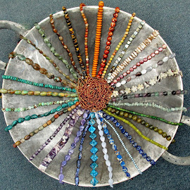 Beadlum by Darla Judes - Novices Only Objects & Still Life ( wheel, display, beads, wok, spokes )