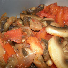 Mushroom, Tomato and Onion Saute
