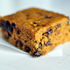 Pumpkin Blondies with Chocolate Chips