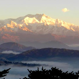 Kanchenjunga by Bharat Patil - Landscapes Mountains & Hills