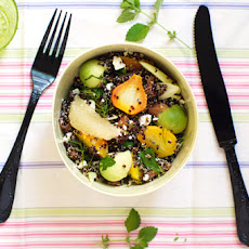Vitamin-boosted Black Quinoa Salad With Golden Beets