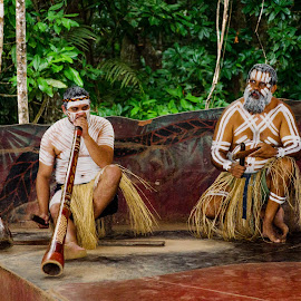 Musicians by Angelica Glen - People Musicians & Entertainers ( musicians, digeridoo, aboriginal, australia, clap sticks,  )