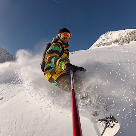 Shredding the Pow by Nigel O'Brien - Sports & Fitness Snow Sports ( snowboard, polecam, burton, gorpo, snow, austria )