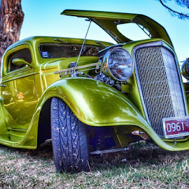 Green Machine by Kristy Lamaro - Transportation Automobiles ( #love, #oldschool, #green, #vintage, #summer, #metalic,  )
